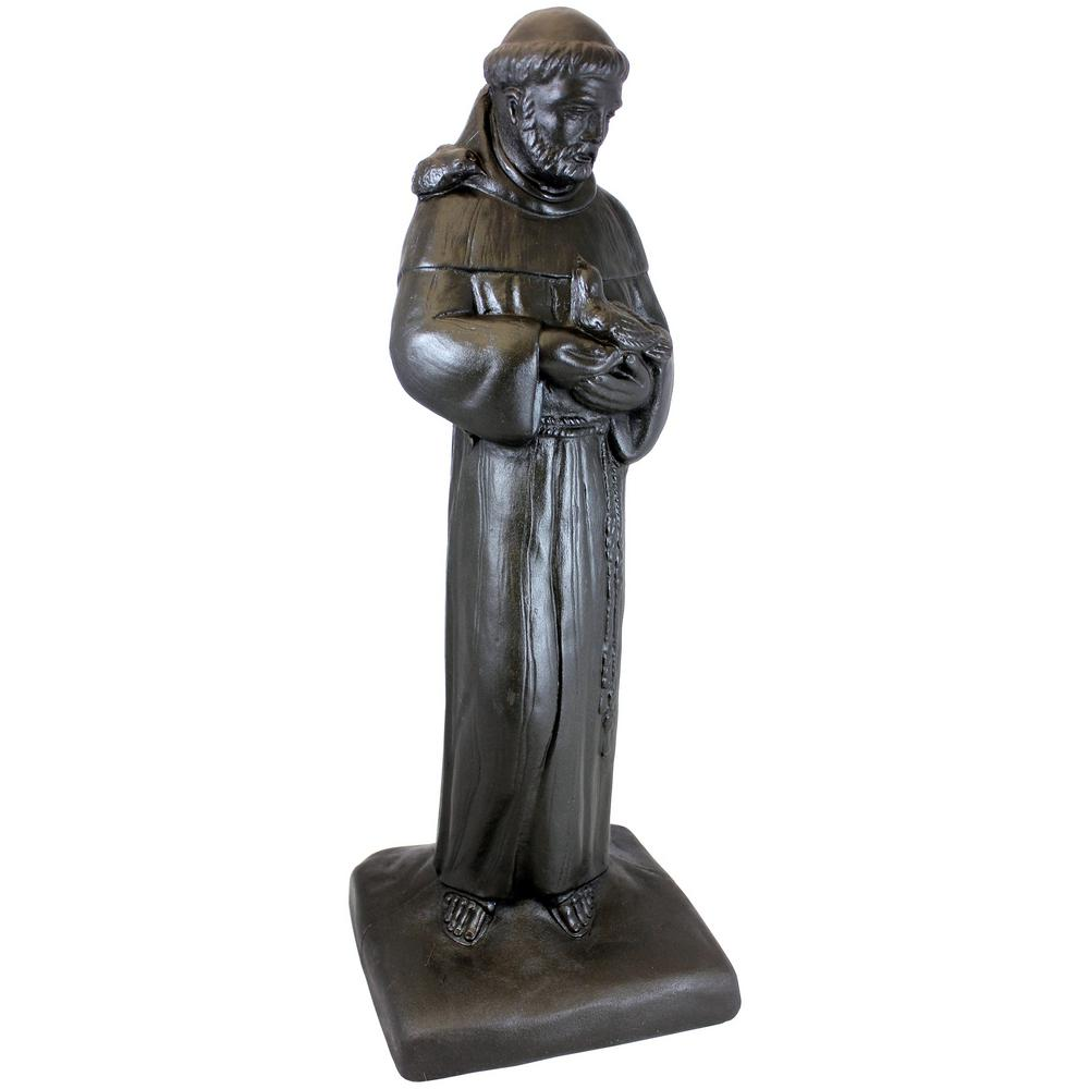 Bronze Color St Francis Lawn And Garden Statue