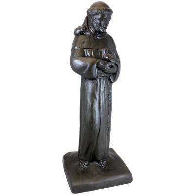29 in. Bronze Color St. Francis Lawn and Garden Statue