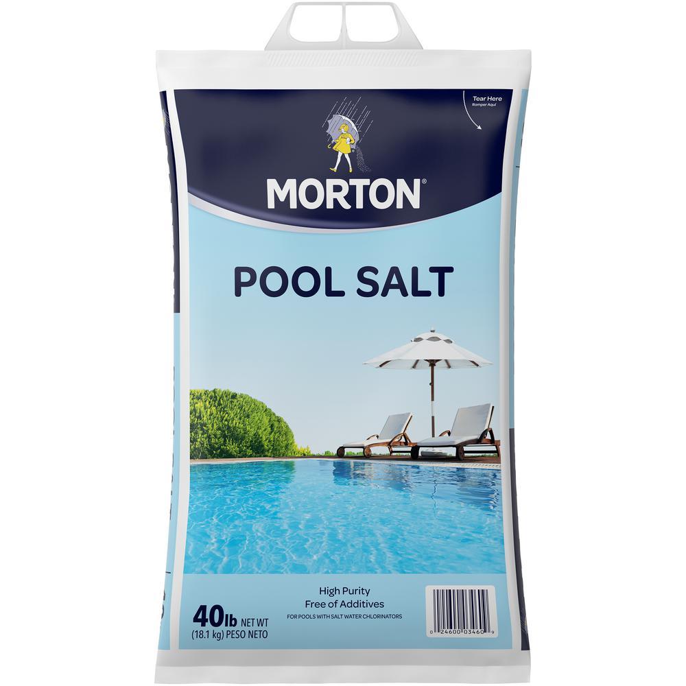 Morton 40 lbs pool salt 3460 the home depot - Convert swimming pool to saltwater ...