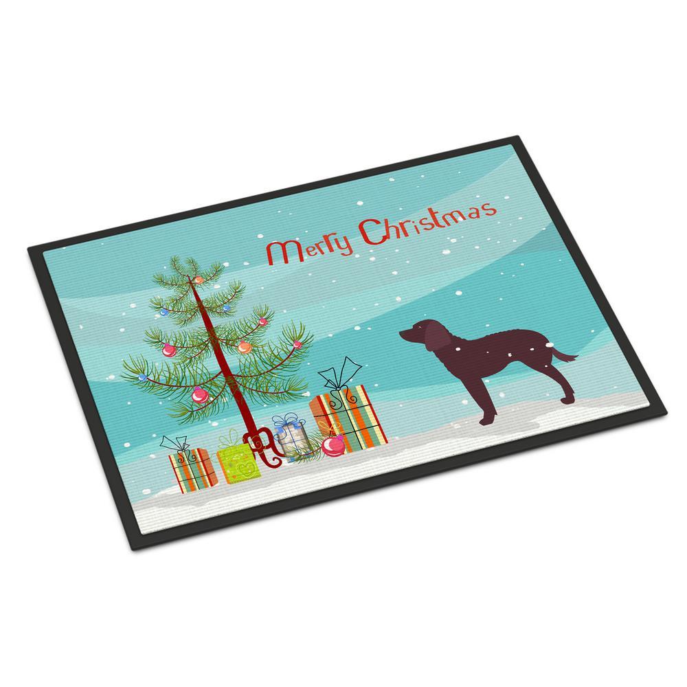 24 in. x 36 in. Indoor/Outdoor American Water Spaniel Christmas Door Mat