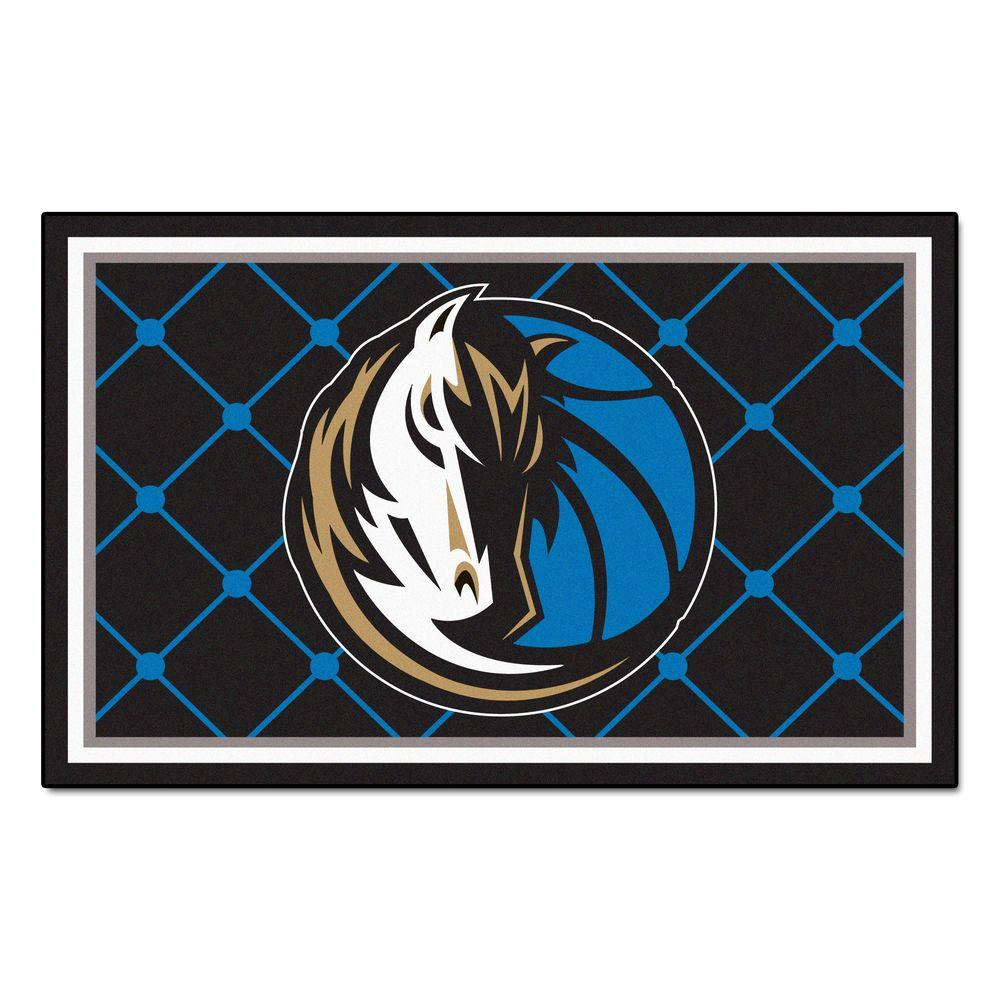 Fanmats Dallas Mavericks 5 Ft X 8 Ft Area Rug 9240 The