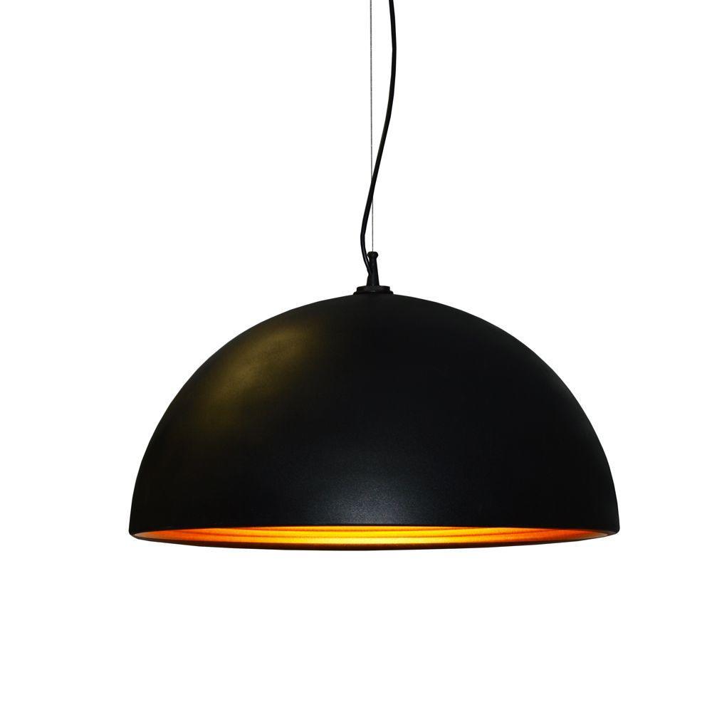 Helsinki 1-Light Matte Black Pendant