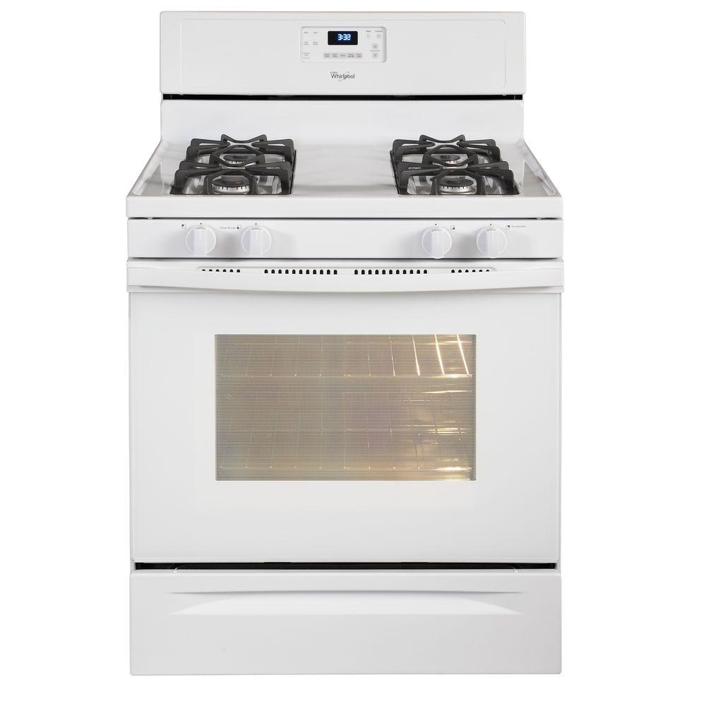 Whirlpool 5.0 cu. ft. Gas Range with Self-Cleaning Oven in White