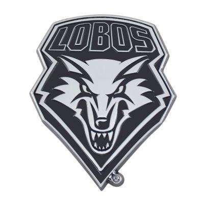 NCAA University of New Mexico 2.7 in. x 3.2 in. Chrome Emblem