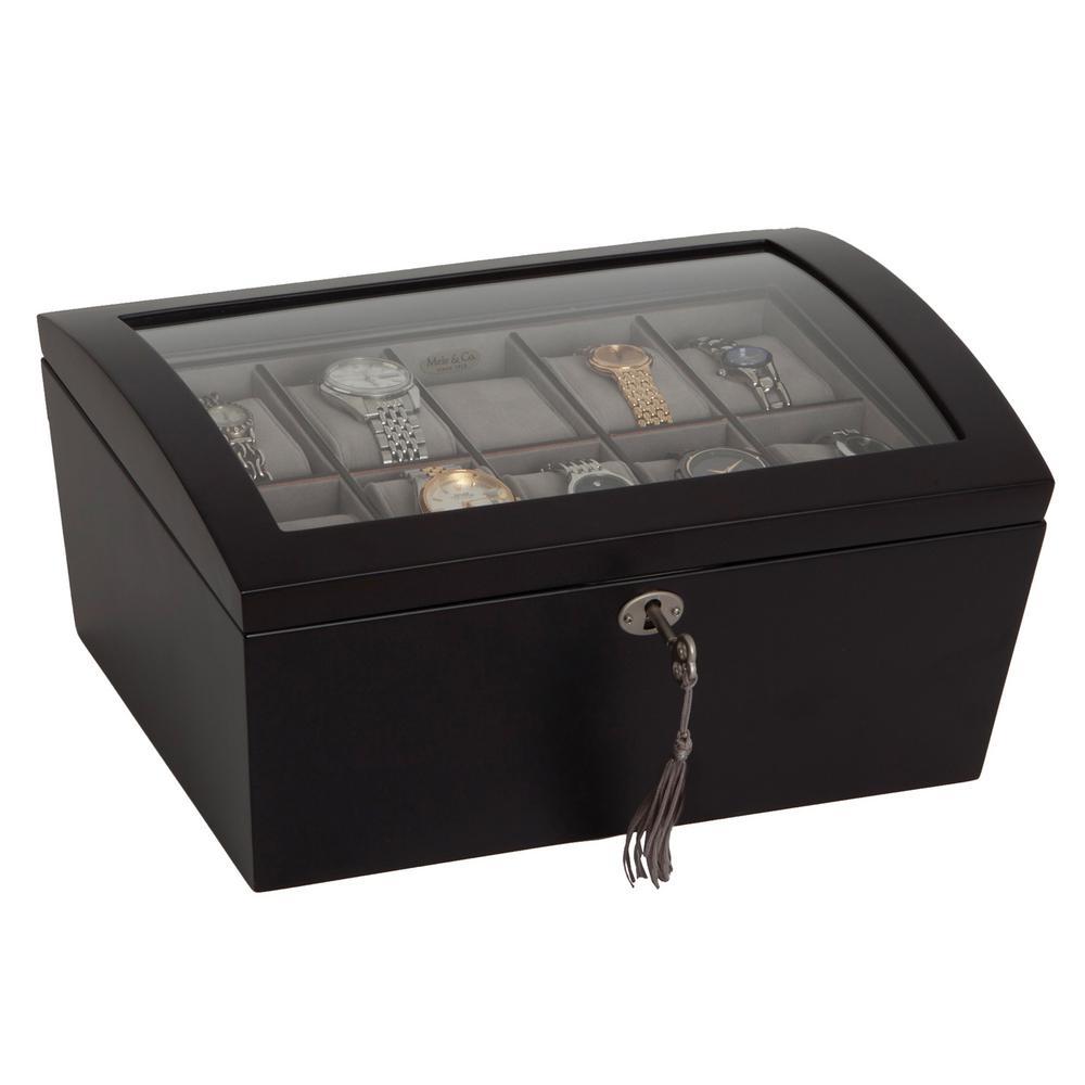 Royce Java Finish Wooden Jewelry Box
