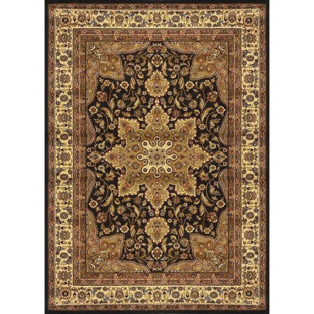 Home Dynamix Royalty Black 2 Ft X 7 Ft Indoor Area Rug 4 8083 450