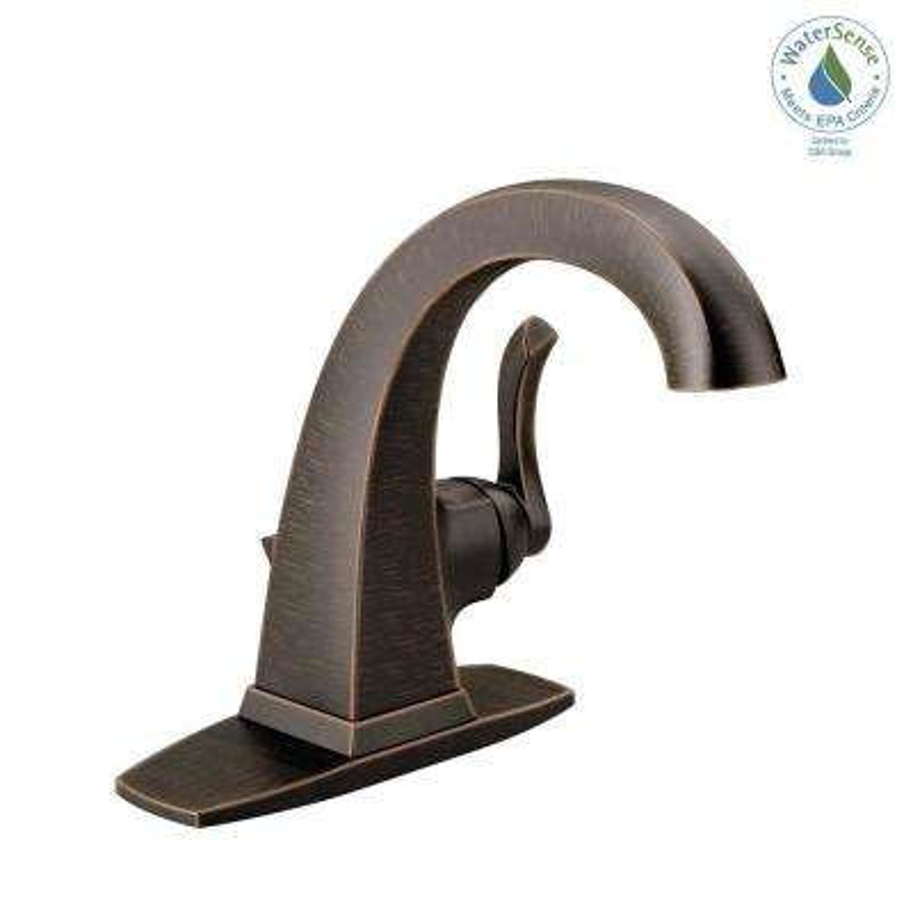 Everly 4 in. Centerset Single-Handle Bathroom Faucet in SpotShield Venetian Bronze