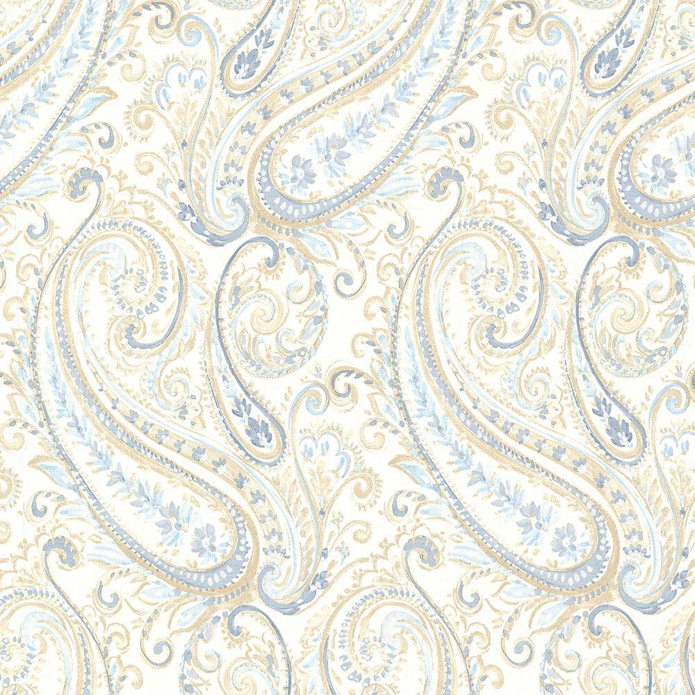 Brewster Penelope Blue Paisley