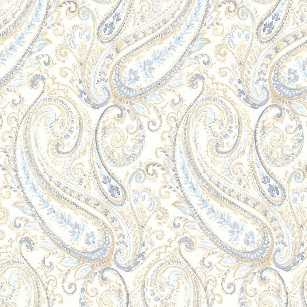 Penelope Blue Paisley Wallpaper
