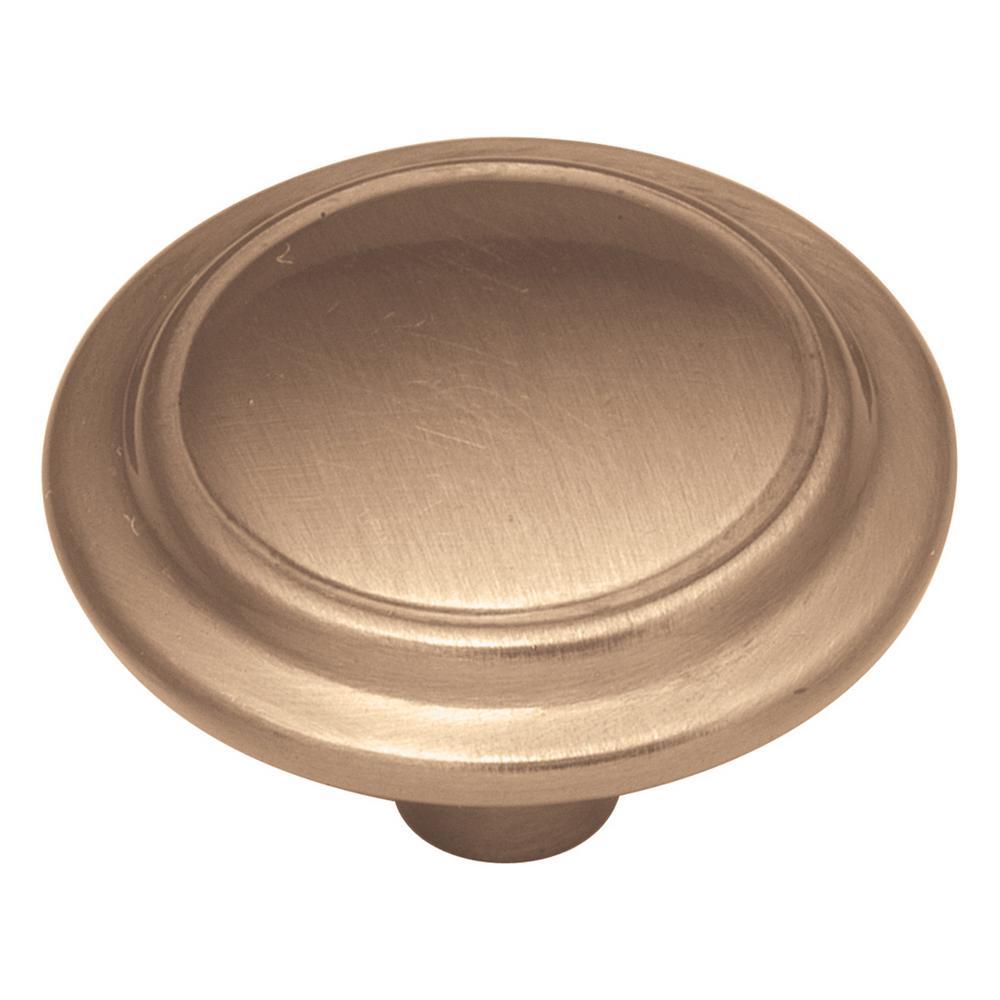 1-1/4 in. Satin Bronze Cabinet Knob