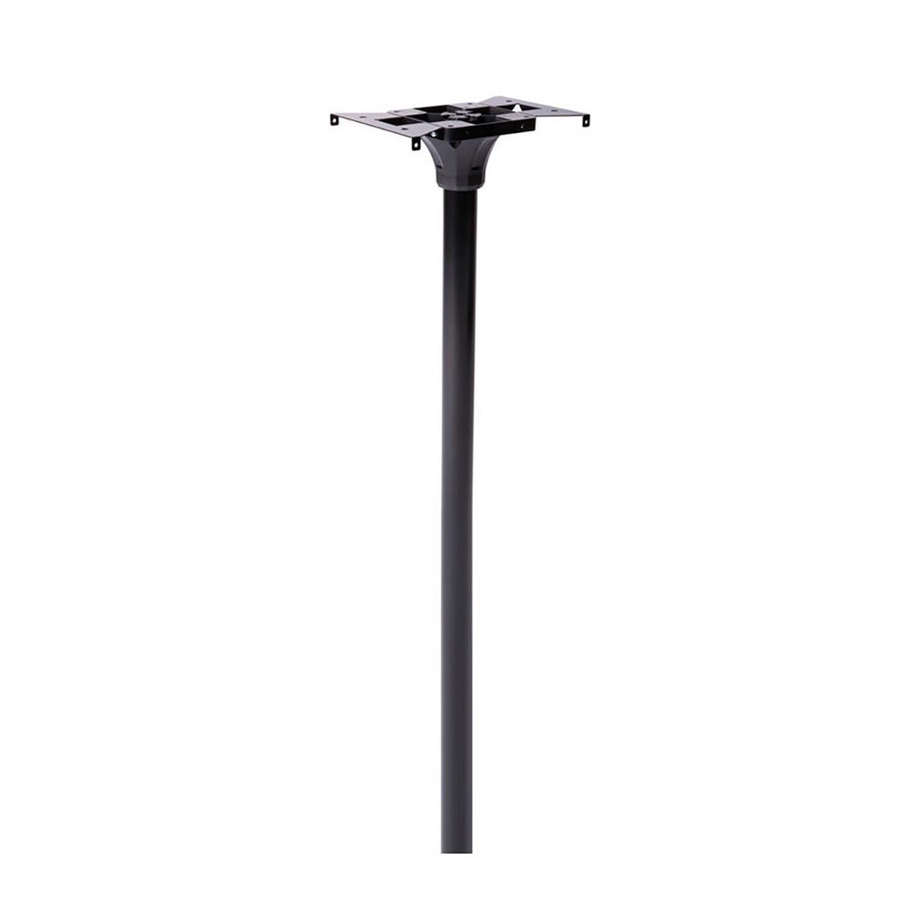 Architectural Mailboxes Coolidge 2 in. Dia In-Ground Steel Mailbox Post Black