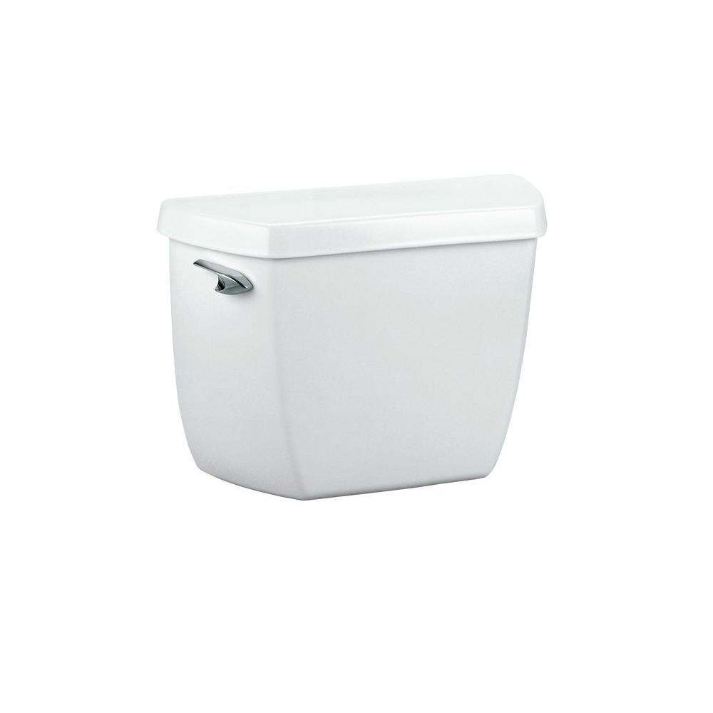 kohler wellworth 1 6 gpf single flush toilet tank only in white k 4620 0 the home depot. Black Bedroom Furniture Sets. Home Design Ideas