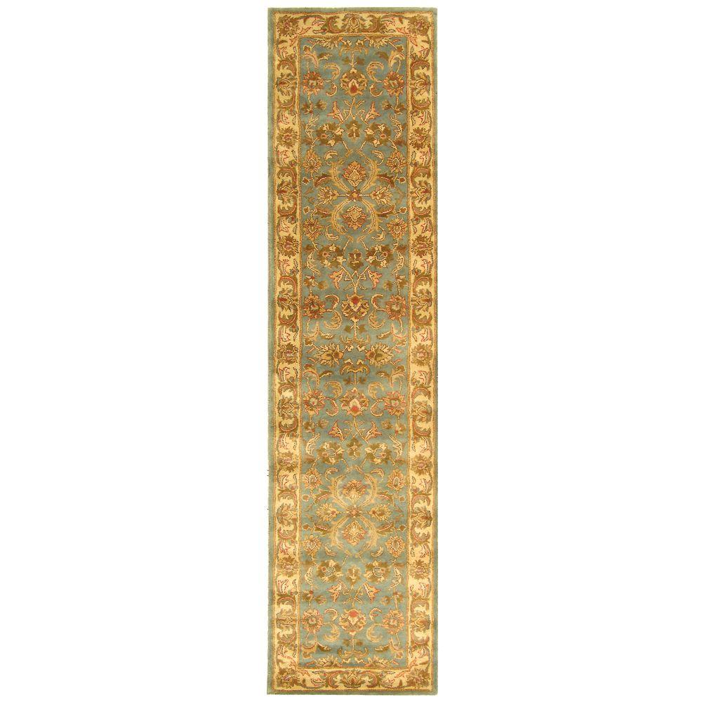 Heritage Blue/Beige 2 ft. 3 in. x 12 ft. Runner