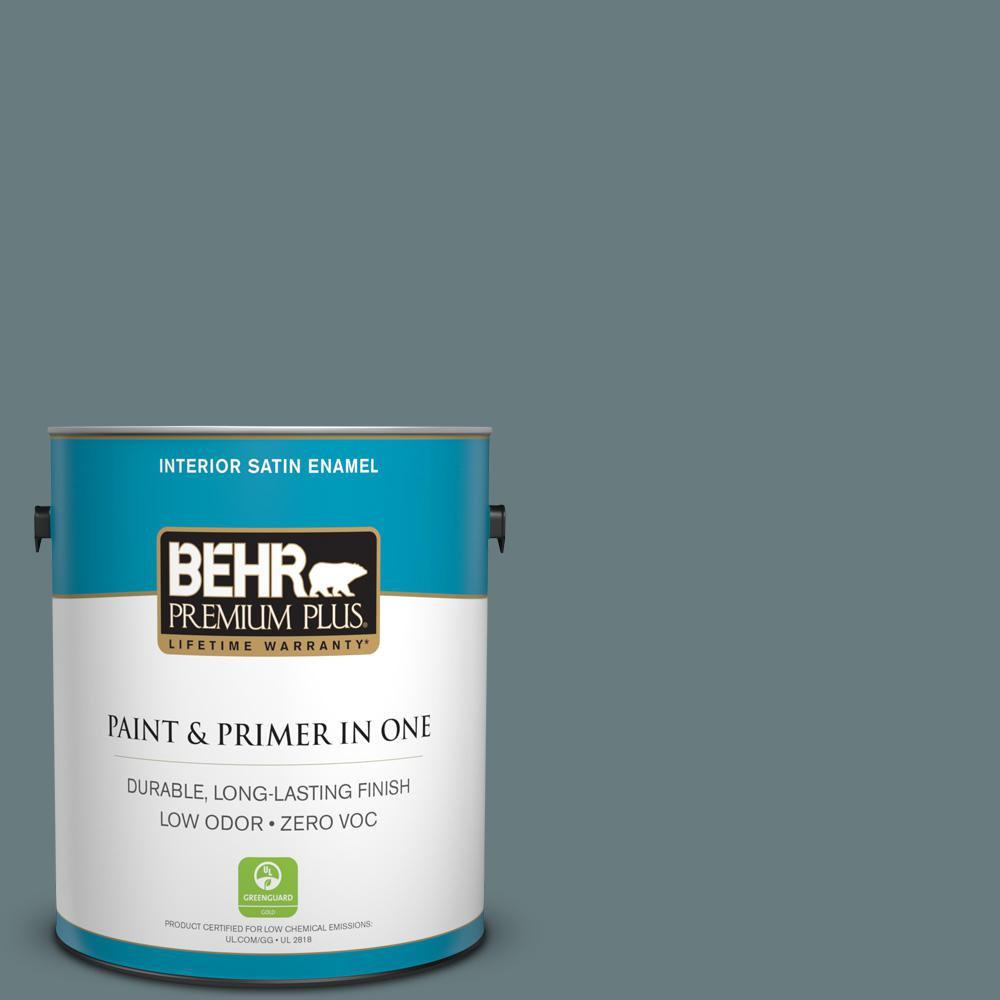 1-gal. #N440-5 Coney Island Satin Enamel Interior Paint