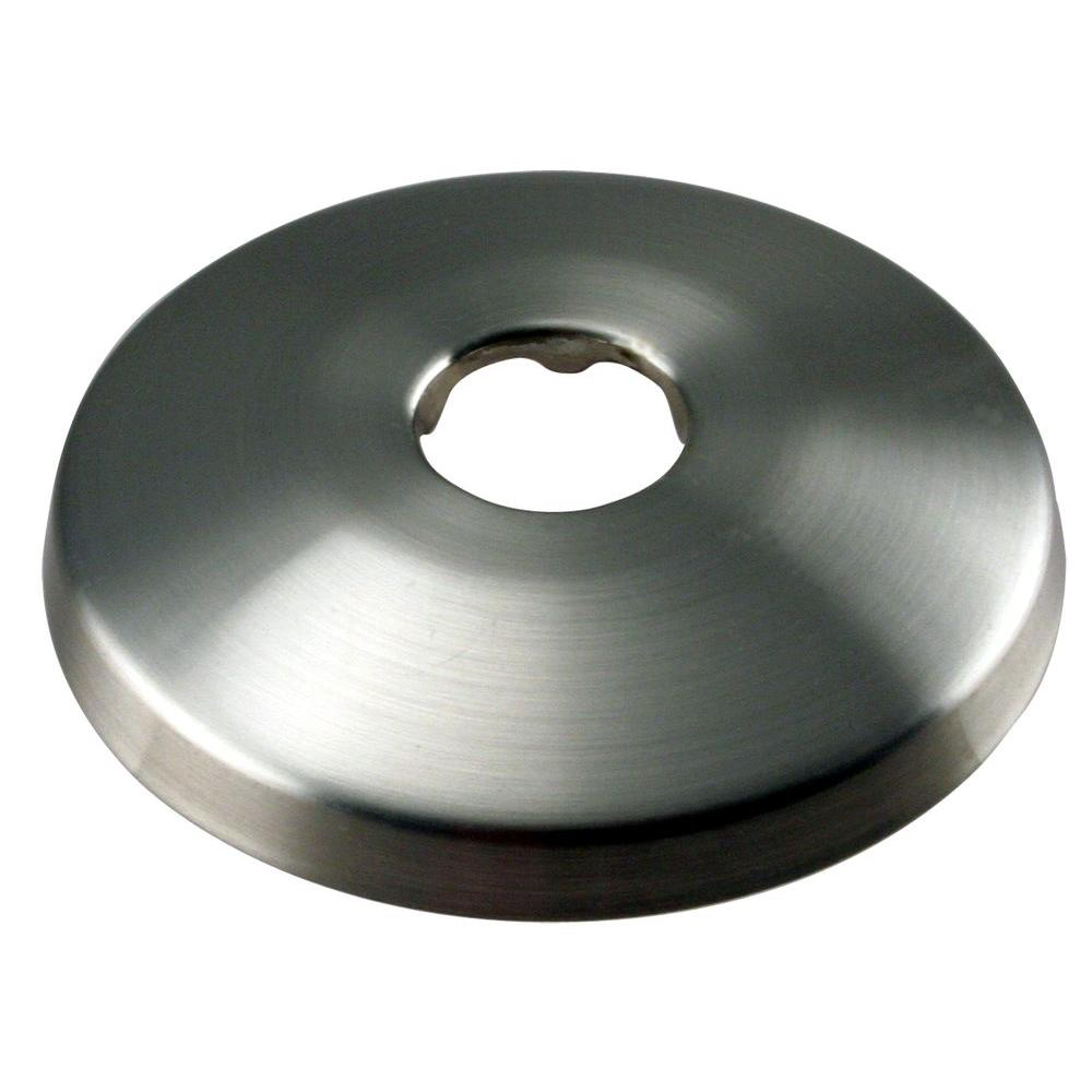 Westbrass 1/2 in. Copper Pipe Shallow Flange in Satin Nickel-DISCONTINUED