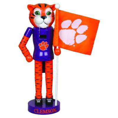 12 in. Clemson Mascot Nutcracker with Flag
