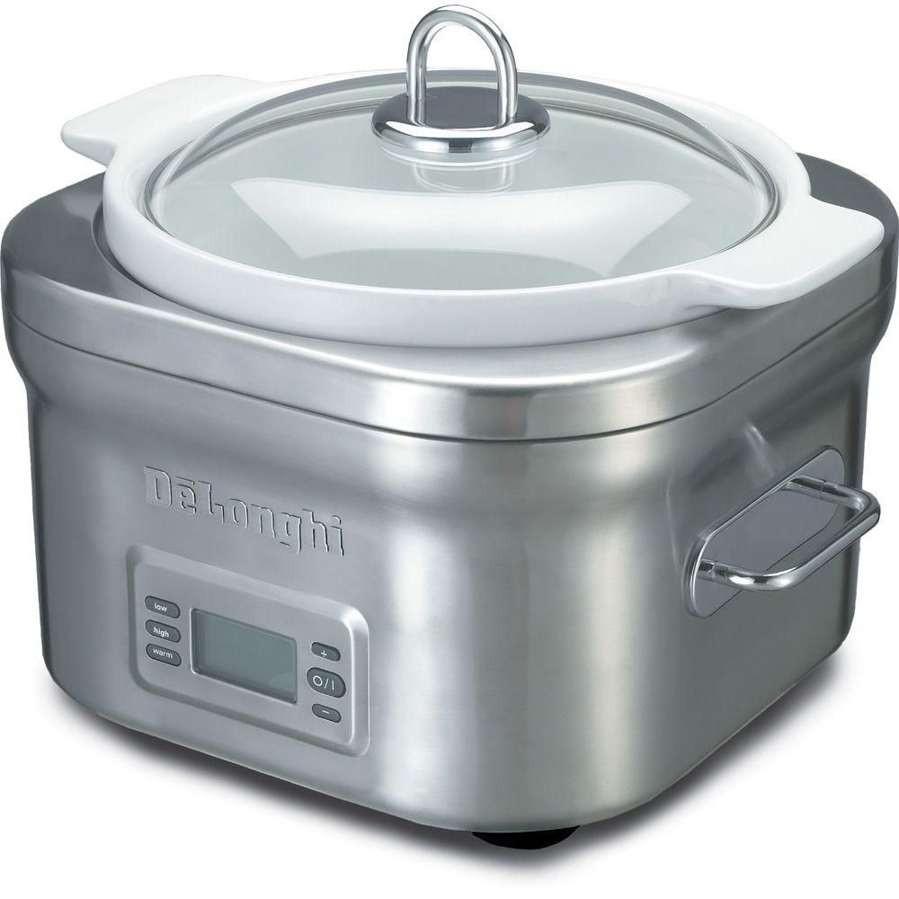DeLonghi 5-qt. Stainless Steel Slow Cooker-DISCONTINUED