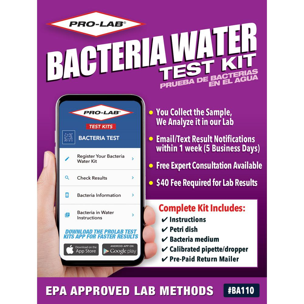 Bacteria In Water Test Kit To Detect Dangerous Coliform And E Coli Bacteria In Your Water Ba110 The Home Depot