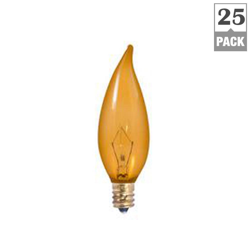 25-Watt CA10 Antique Dimmable Warm White Light Incandescent Light Bulb (25-Pack)