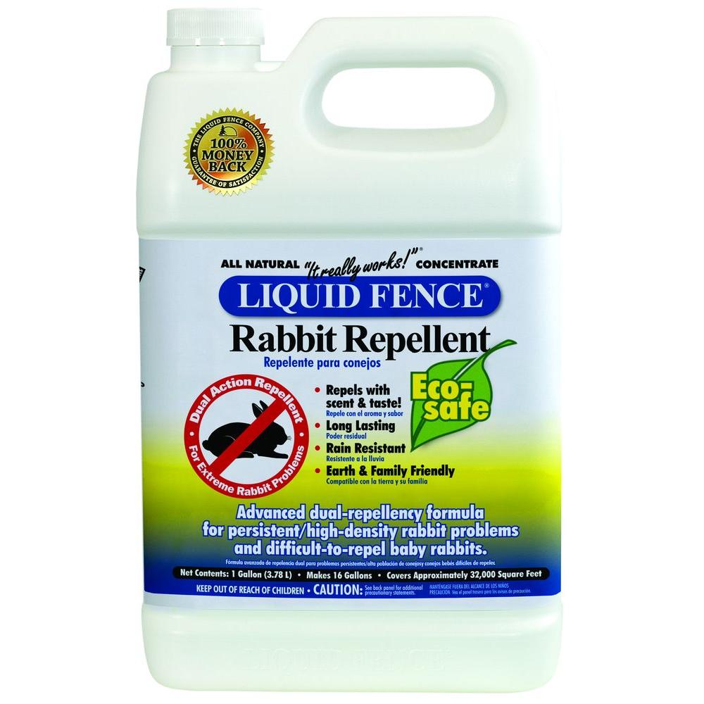 Liquid Fence 1 gal. Concentrate Dual Action Rabbit Repellent-DISCONTINUED