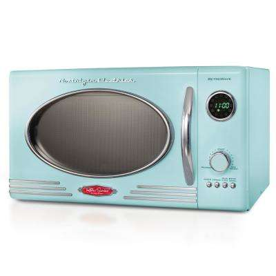 0.9 cu. ft. Countertop Microwave Oven in Aqua