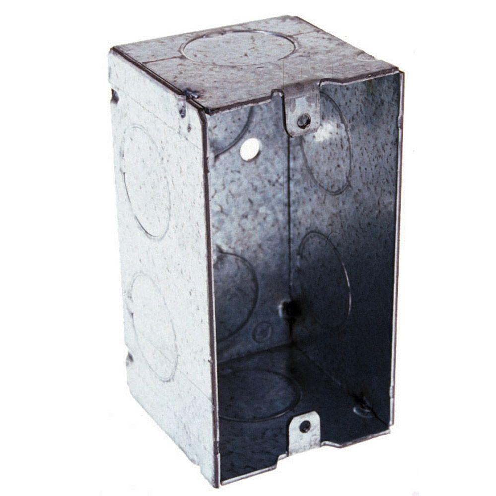 2-1/8 in. Deep Single-Gang Welded Handy Box with 3/4 in. Knockouts