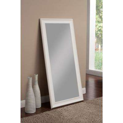 Frost White Full Length Leaner Floor Mirror