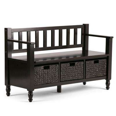 Dakota Dark Exeter  Brown Storage  Bench