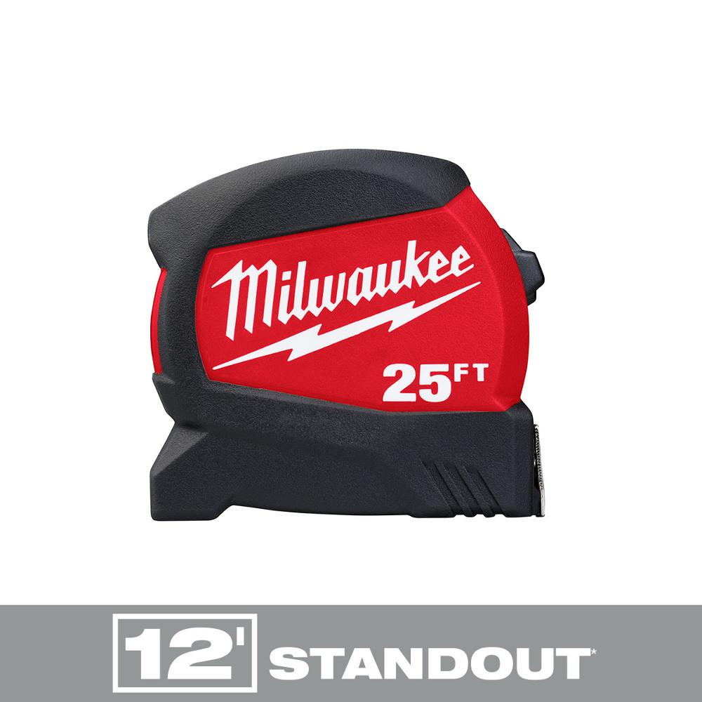 Milwaukee Milwaukee 25 ft. x 1.2 in. Compact Wide Blade Tape Measure with 12 ft. Standout