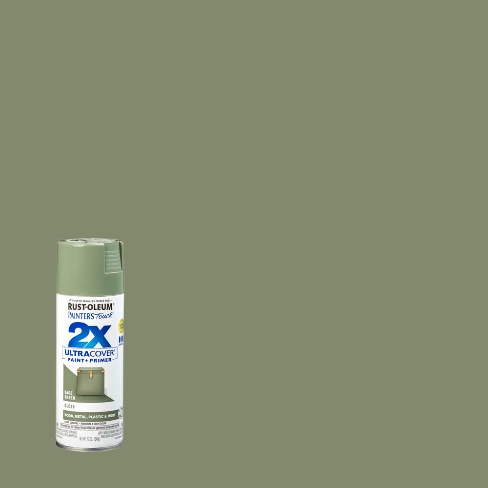 Rust-Oleum Painter's Touch 2X 12 oz. Gloss Sage Green General Purpose Spray Paint (6-Pack)