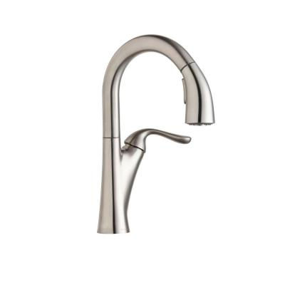 Harmony Single-Handle Bar Faucet with Pull-Down Sprayer in Lustrous Steel