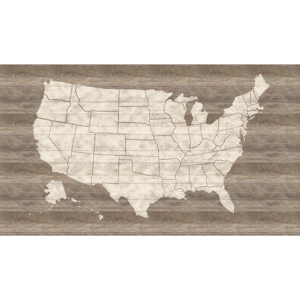 York Wallcoverings United States Map Mural Wallpaper