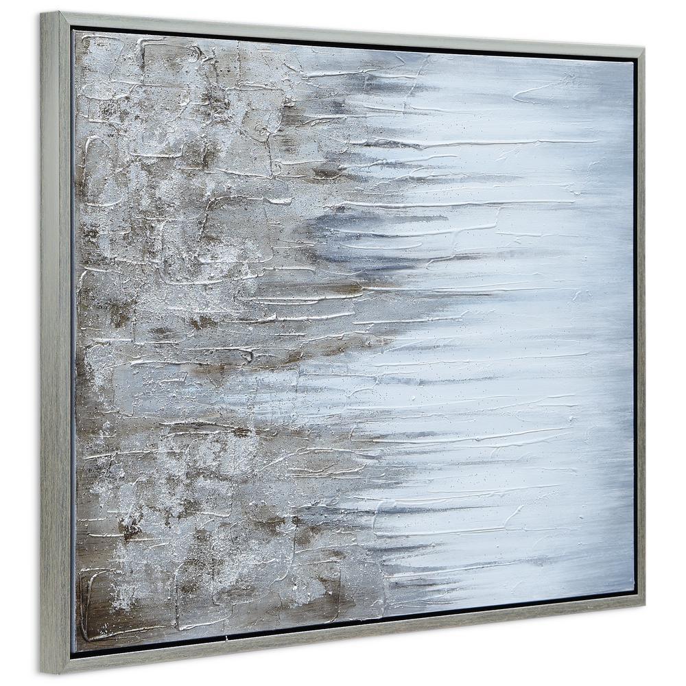 Abstract Metallic Canvas Art