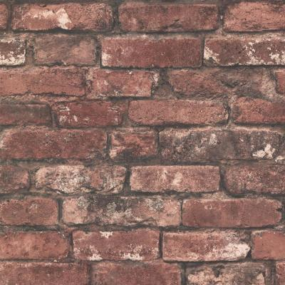 Debs Red Exposed Brick Wallpaper