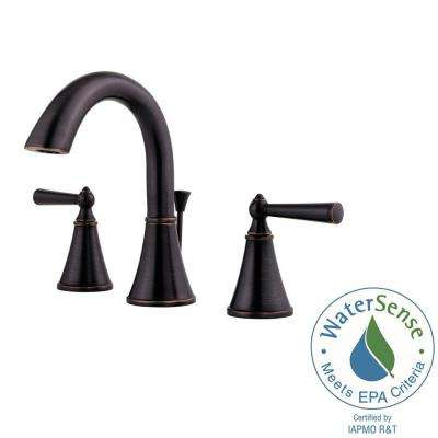 Widespread 2 Handle Bathroom Faucet In Tuscan Bronze