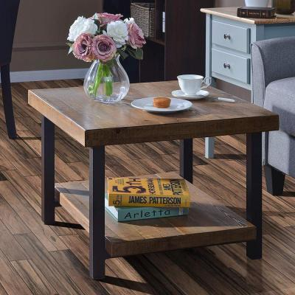 Brown Square Bingham Coffee Table