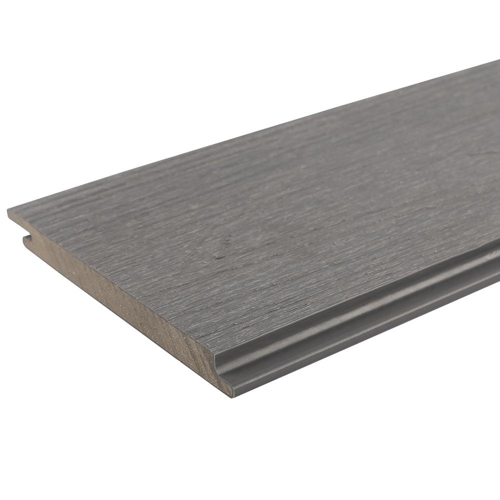 NewTechWood All Weather System 0.5 in. x 5.5 in. x 96 in. Composite Siding Board in Westminster Gray