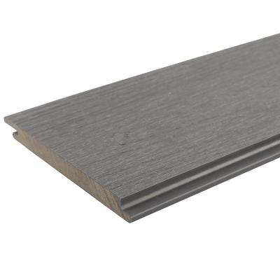 All Weather System 0.5 in. x 5.5 in. x 96 in. Composite Siding Board in Westminster Gray