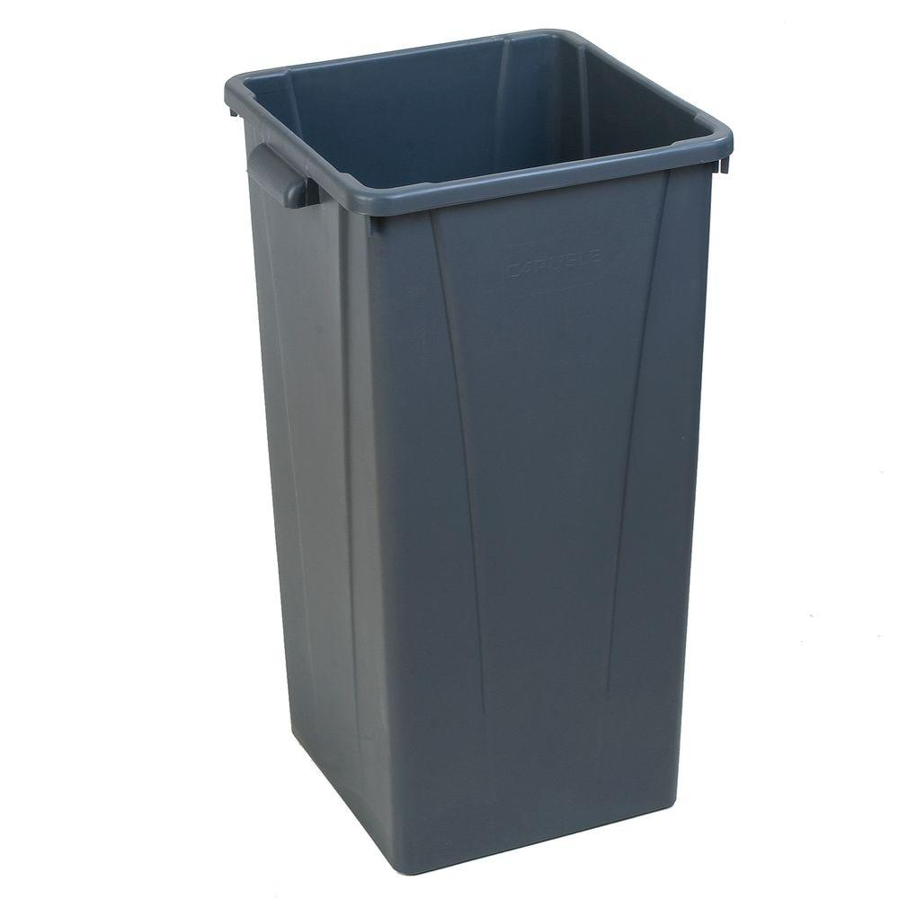 Carlisle Centurian 23 Gal. Gray Square Trash Can (4-Case)
