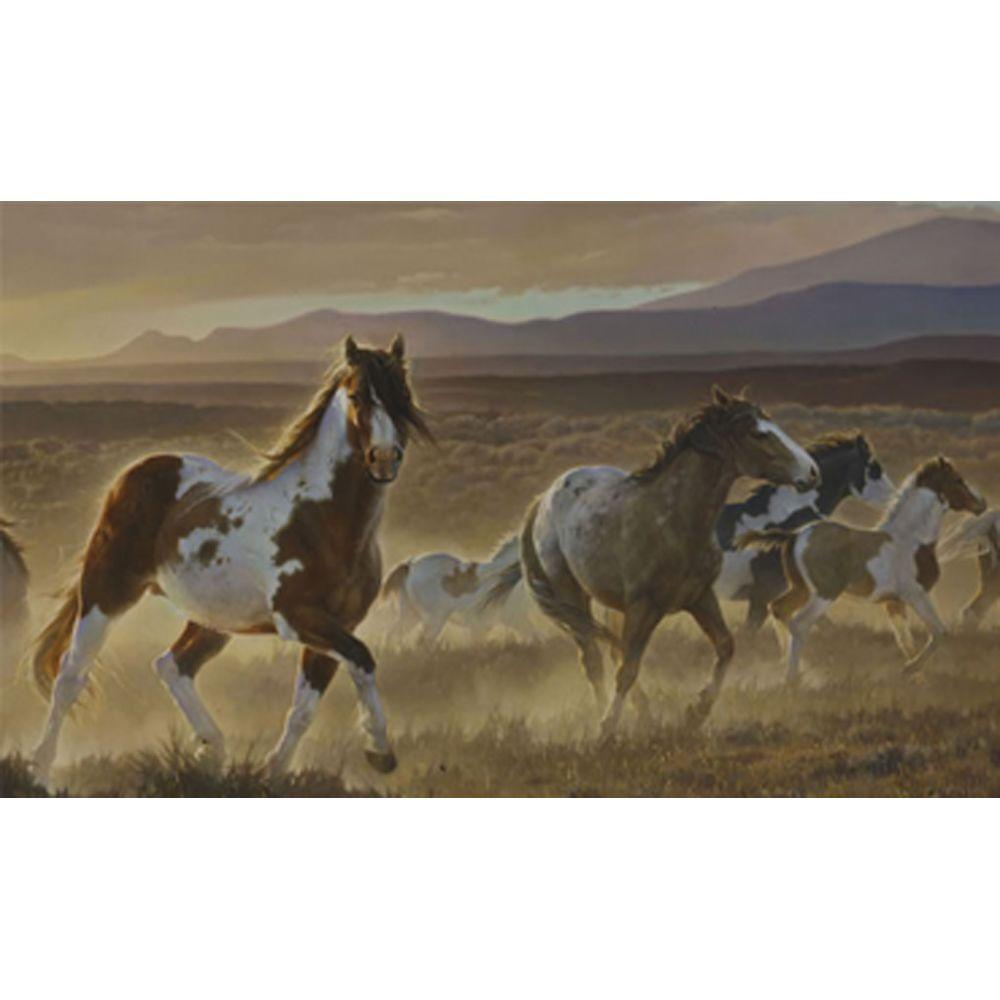 York Wallcoverings 10.5 ft. x 6 ft. Desert Horse Chair Rail Wall Mural