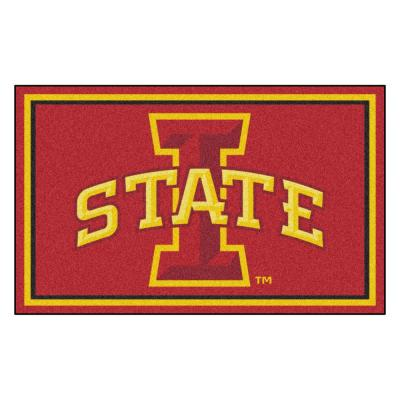 NCAA - Iowa State University Red 4 ft. x 6 ft. Area Rug