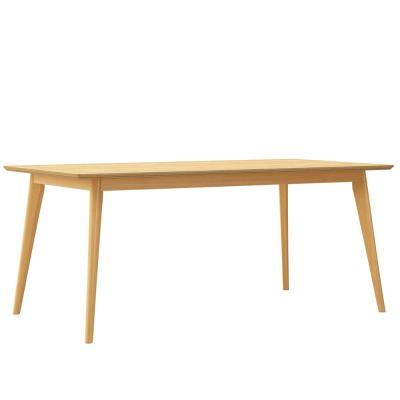Blansten 70.9 in. Rectangular Natural Wood Dining Table with Solid Wood Frame
