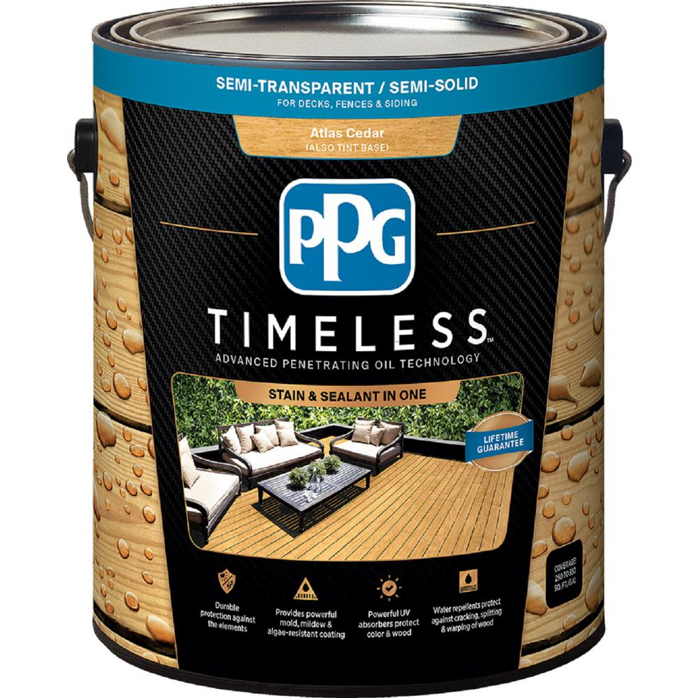 Ppg timeless 1 gal tst 49 atlas cedar semi transparent - Cedar wood preservative exterior ...