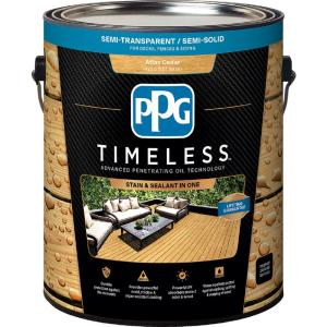 Ppg timeless 8 oz tst 49 atlas cedar semi transparent - Cedar wood preservative exterior ...