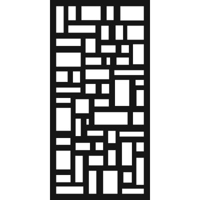 0.3 in. x 45.7 in. x 1.9 ft. Cobblestones Recycled Plastic Charcoal Wall Art