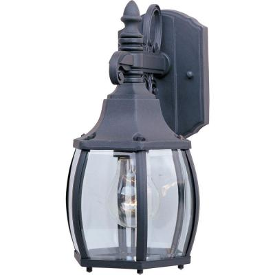 Crown Hill 1-Light Black Outdoor Wall Lantern Sconce