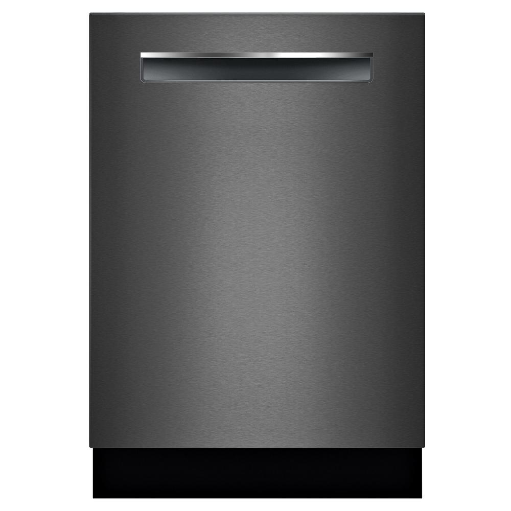Bosch 800 Series Top Control Tall Tub Pocket Handle Dishwasher in Black Stainless with Stainless Steel Tub, CrystalDry, 42dBA