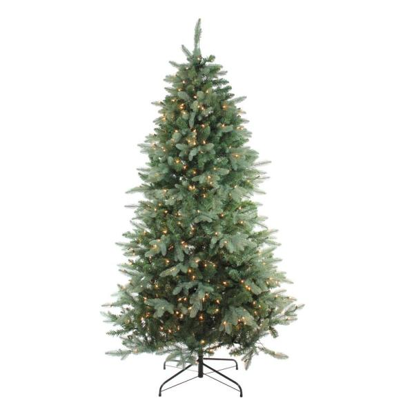 4.5 ft. x 35 in. Pre-Lit Washington Frasier Fir Slim Artificial Christmas Tree with Clear Lights