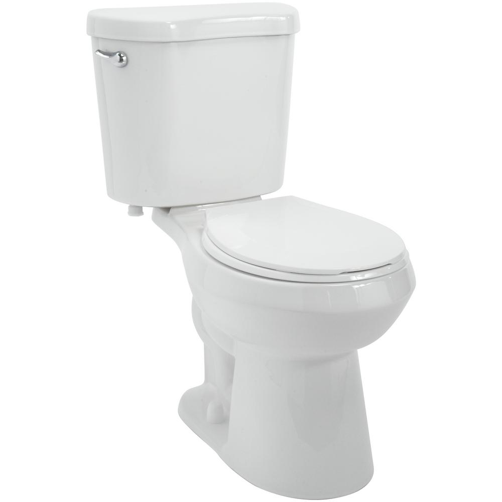Remarkable Glacier Bay 2 Piece 1 28 Gpf High Efficiency Single Flush Round Toilet In White Spiritservingveterans Wood Chair Design Ideas Spiritservingveteransorg
