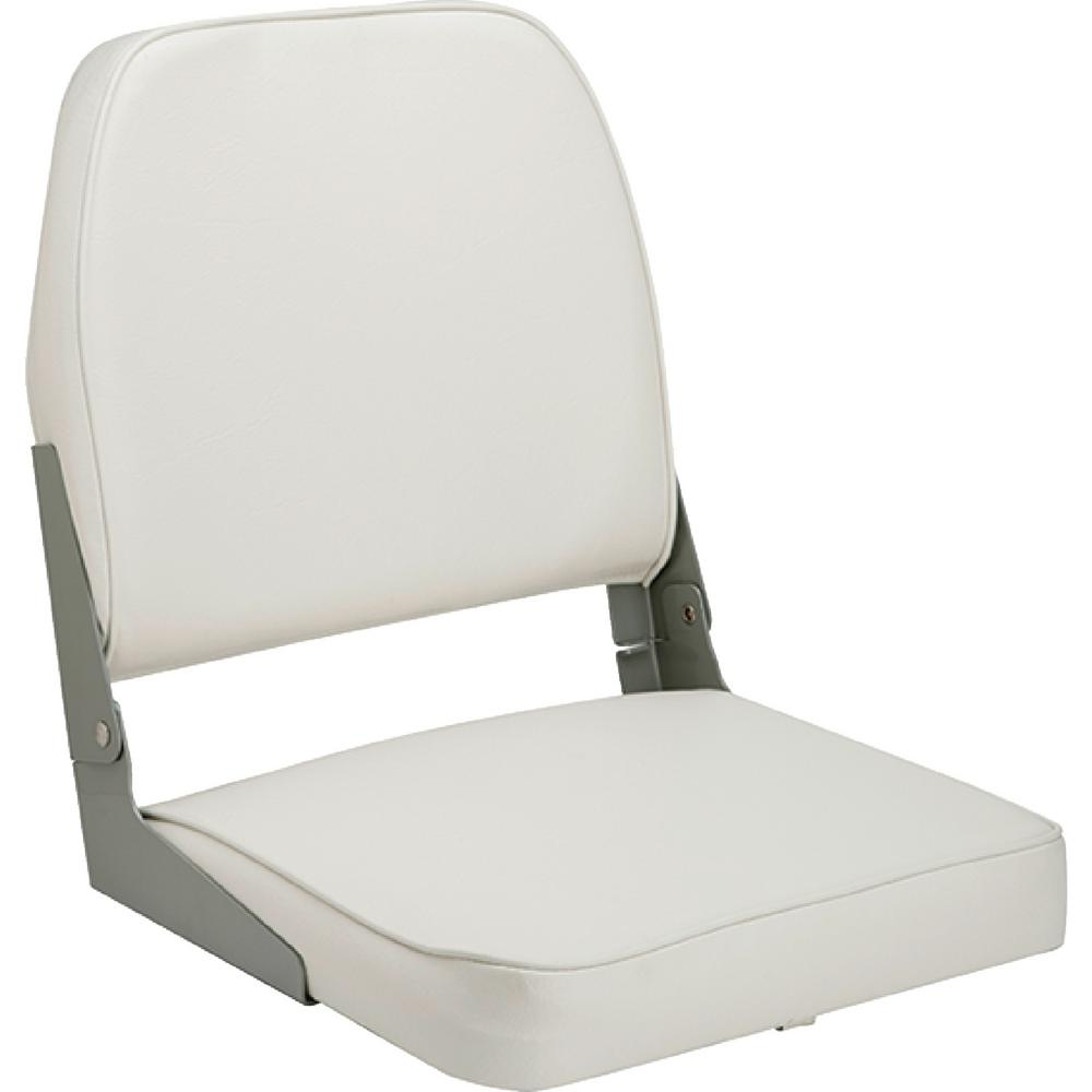 Attwood Boat Seat, White This seat features a high impact plastic frame. Aluminum hinges. UV resistant.